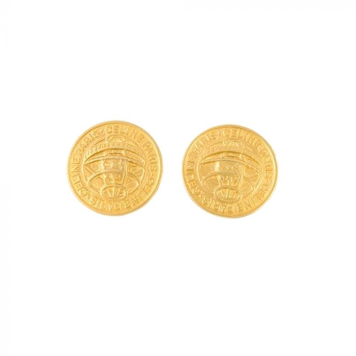 Vintage Celine Medallion Earrings