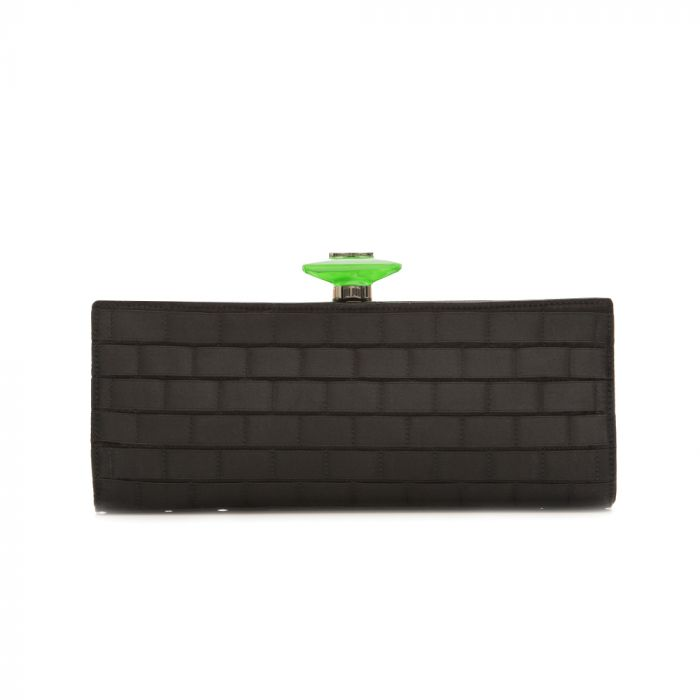 Chanel Black Textured Clutch