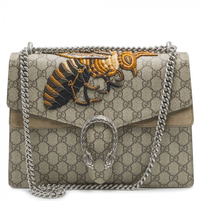 Gucci Dionysus Medium Embroidered Canvas & Suede Shoulder Bag SOLD