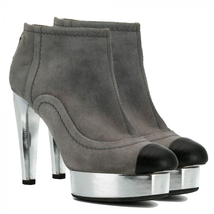 Chanel Bi-colour Suede Ankle Booties SOLD