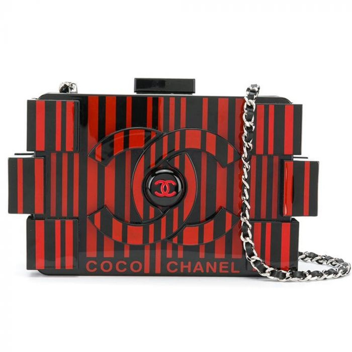 Limited Edition Chanel Red Op-Art Lego Bag SOLD
