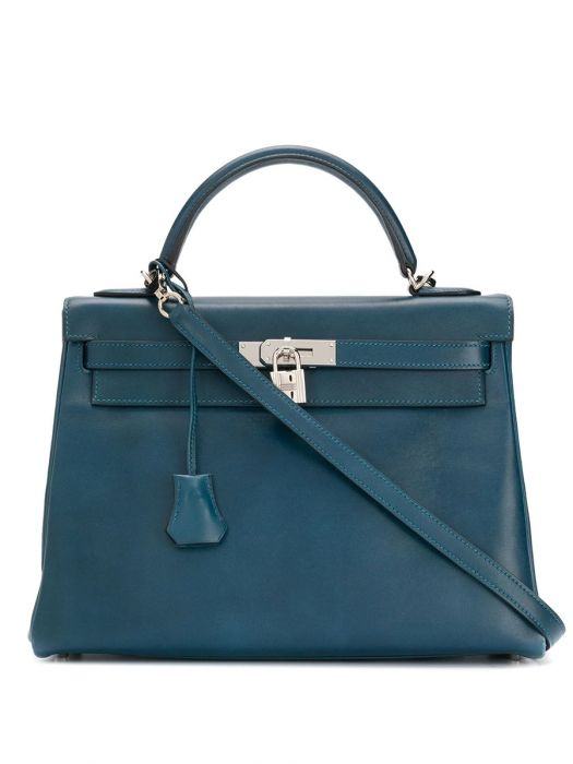 Hermes Blue de Malte 32cm Kelly Bag SOLD
