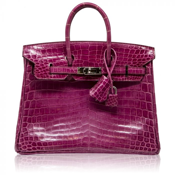 Hermès Fuschia Croc 25cm Birkin Bag SOLD