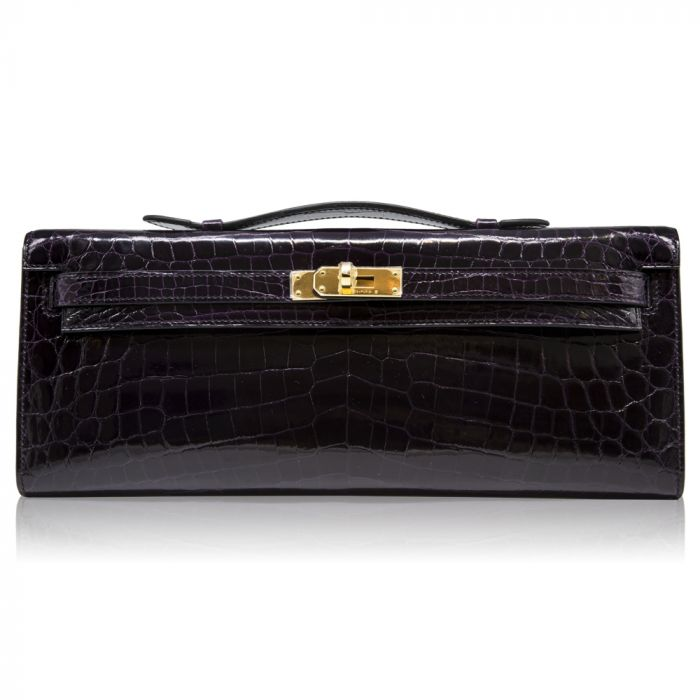 Hermès Amethyst Kelly Cut Clutch Bag SOLD
