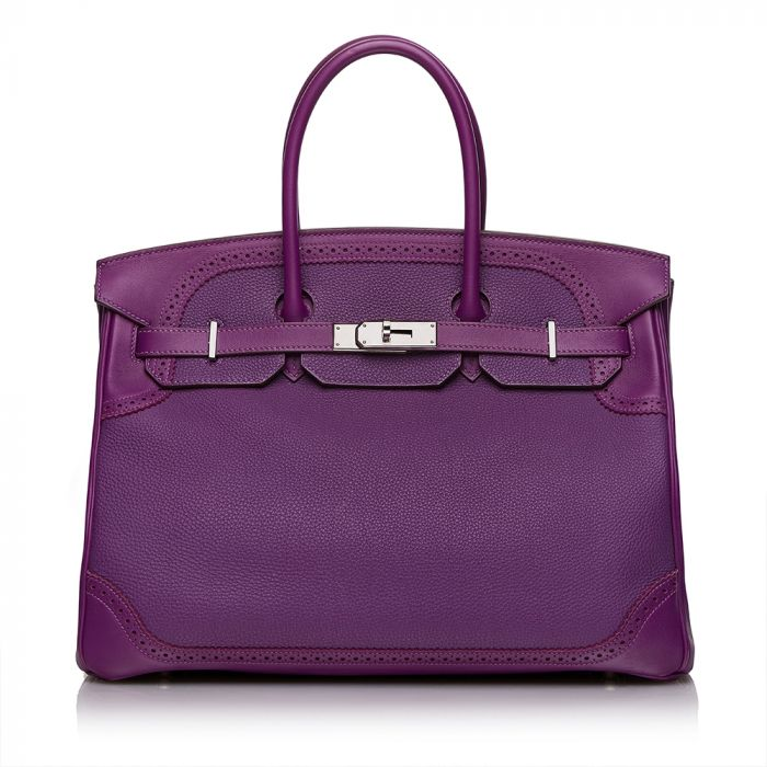 Hermès Anemone Ghillies 35cm Birkin Bag SOLD
