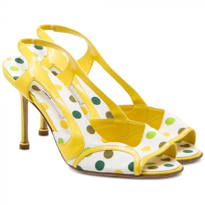 Manolo Blahnik Yellow Polkadot