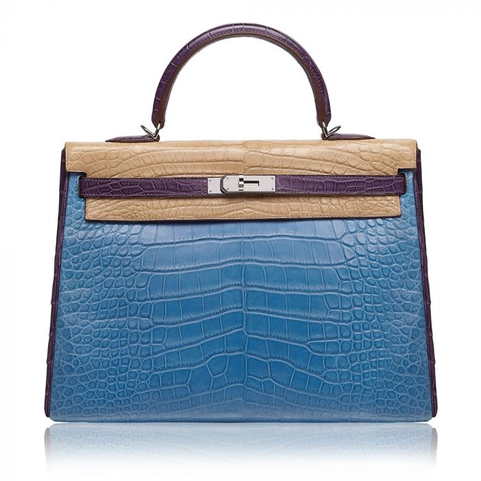 Hermès Special Order Tri-Colour Alligator Leather 35cm Kelly Bag