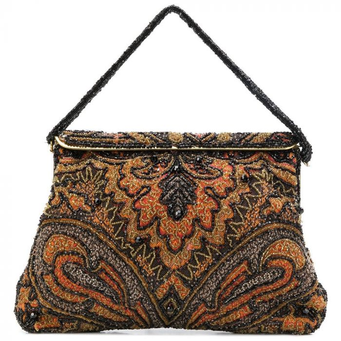 Vintage 1960s Paisley Beaded Bag