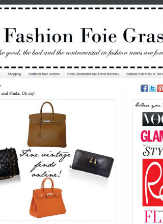 Rewind featured in Fashion Foie Gras