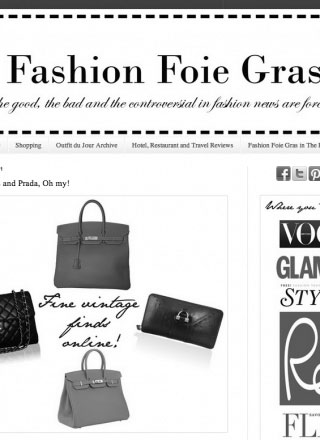 Rewind featured in Fashion Foie Gras black and white