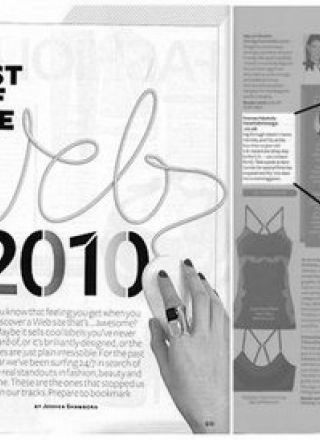 Rewind Vintage featured in InStyle magazine black and white