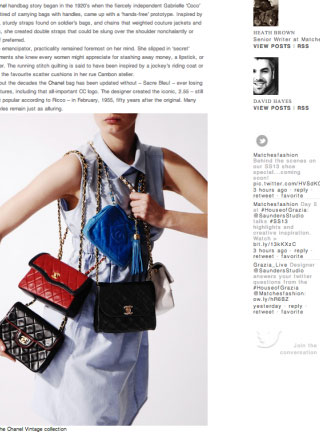 Rewind Vintage featured in matchesfashion.com