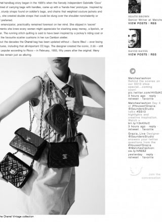Rewind Vintage featured in matchesfashion.com black and white