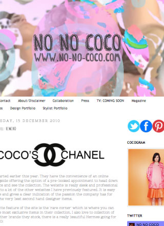 Rewind Vintage featured in No Coco blog