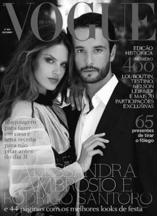 Rewind Vintage featured in Vogue Brazil black and white