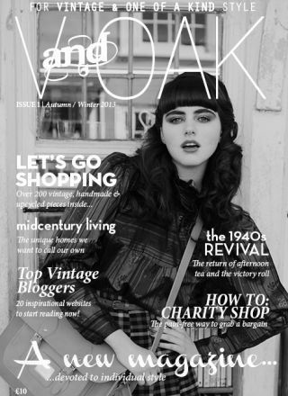 Rewind Vintage featured in V and Oak magazine black and white