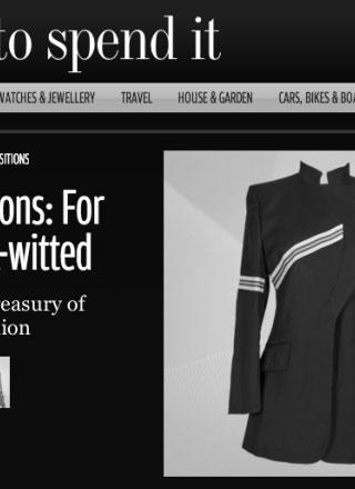 Rewind Vintage featured in How to Spend It magazine black and white