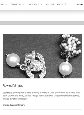 Rewind Vintage featured in Culture Whisperer black and white