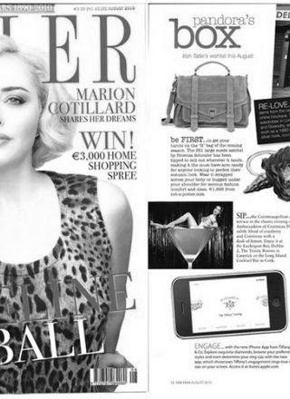 Rewind Vintage featured in Tatler magazine black and white