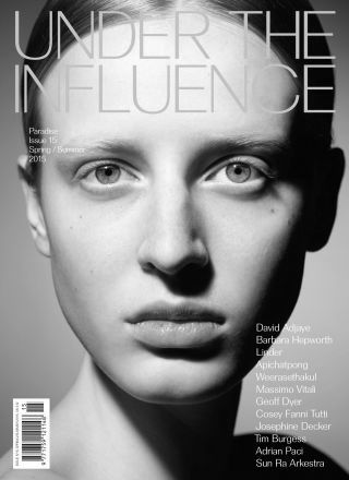 Rewind Vintage featured in Under the Influence magazine black and white