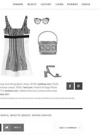 Rewind Vintage featured on Vogue.com black and white